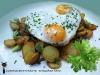 Patate saltate con uovo al bue